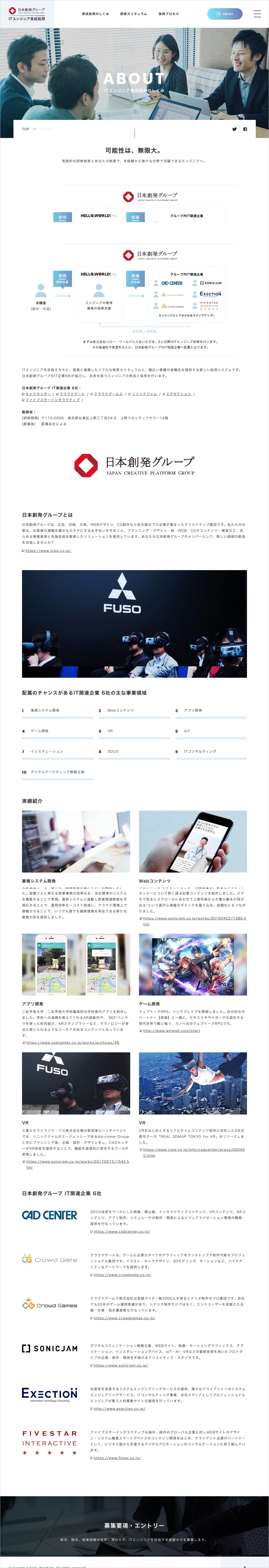 育成採用のしくみ|ITエンジニア育成採用|日本創発グループ:株式会社ハロー・ワールド